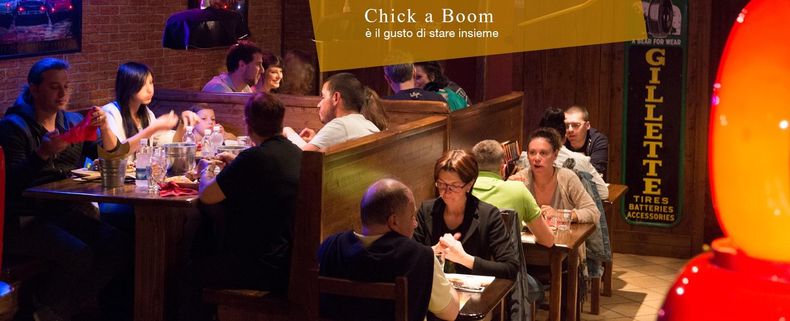 <div> <div>Chick a Boom<br /> è il gusto di stare insieme</div> </div>