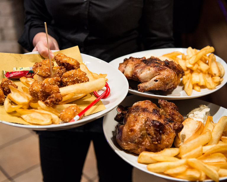 Galletto e Pepite di Pollo al Chick A Boom